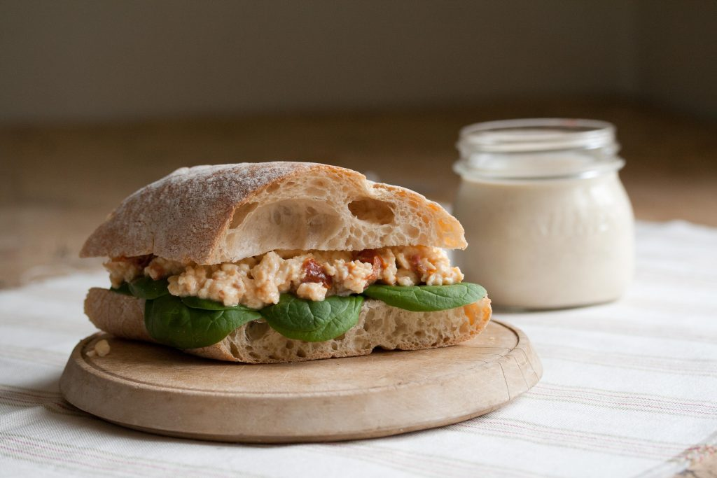 Egg Salad Cream Sandwich LR