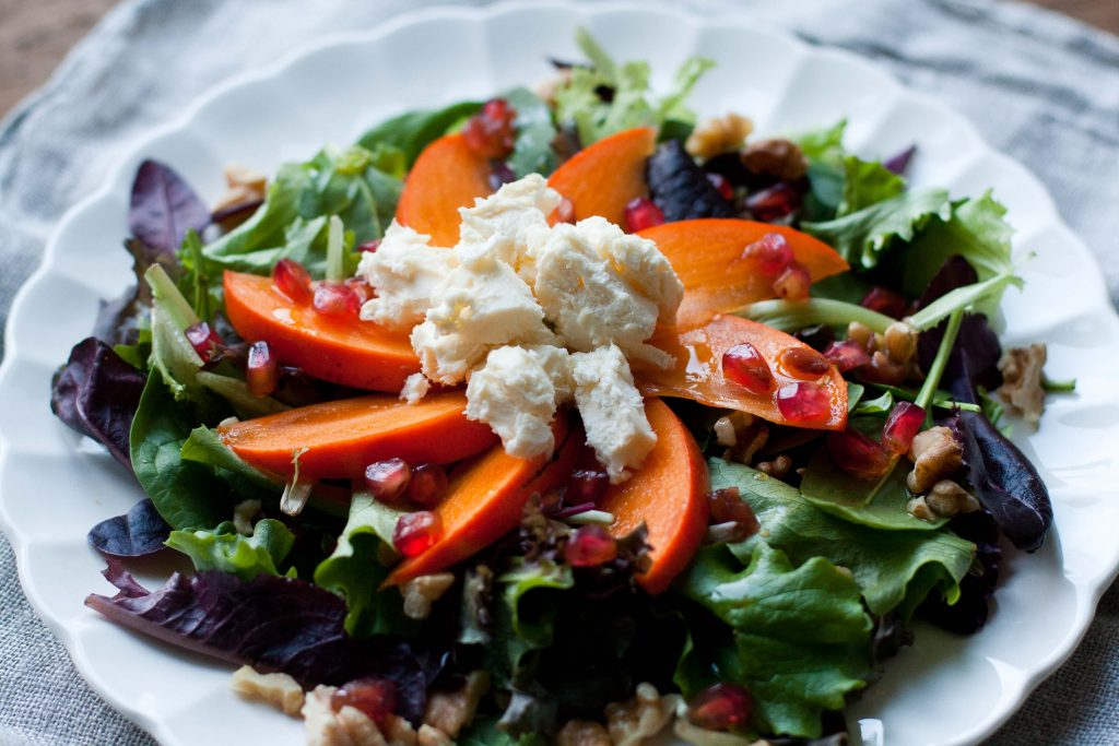 Persimmons & cheese salad LR