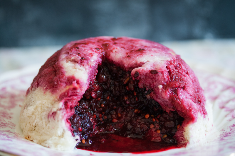 ELIZABETH DAVID'S MULBERRY SUMMER PUDDING