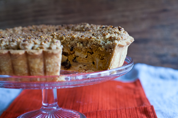 Pumpkin, Apple & Hazelnut Crumble Tart
