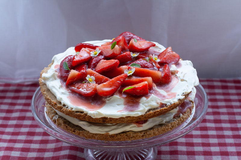 Spiced Strawberry Shortcake