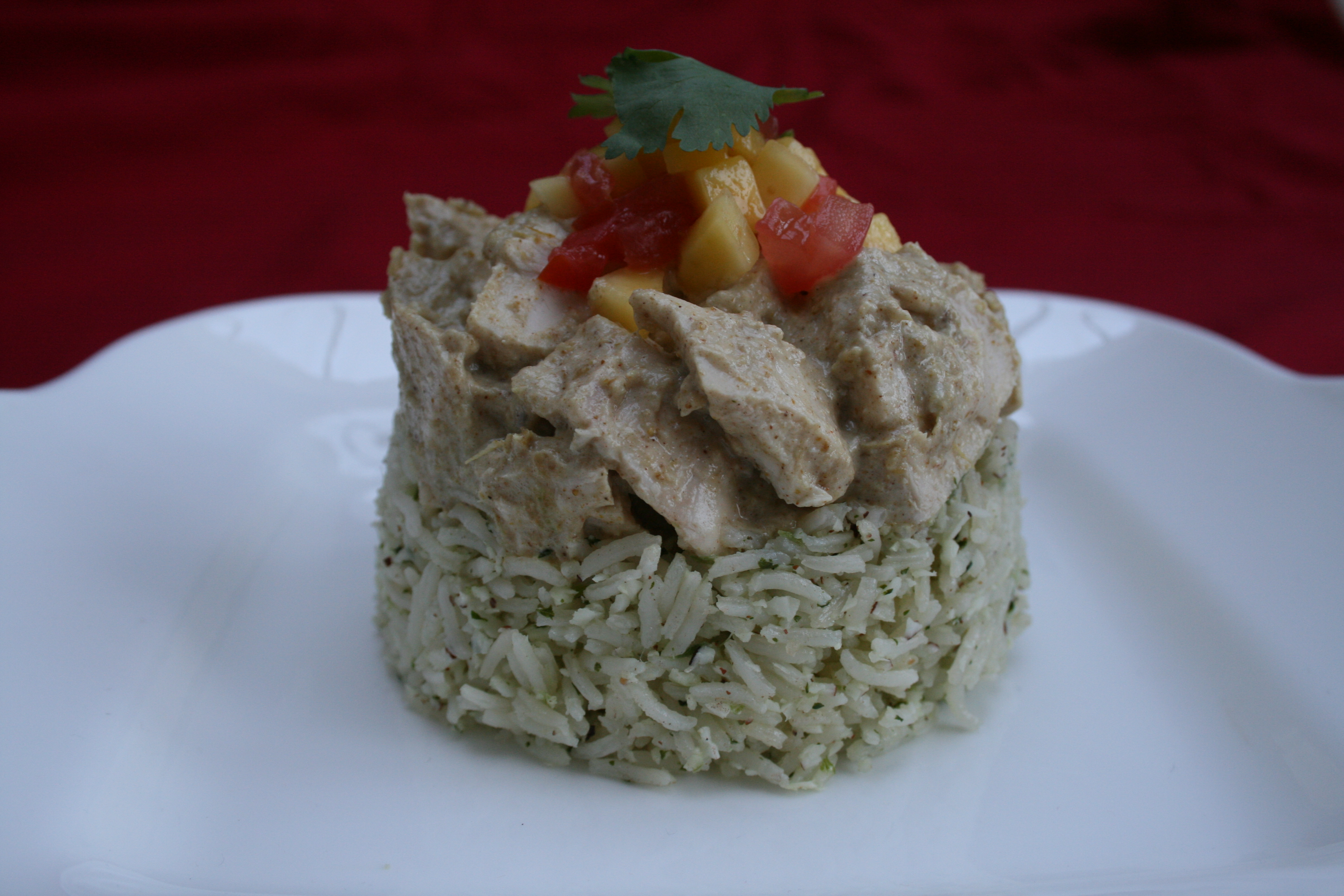 Coconut chicken in a creamy curry dressing