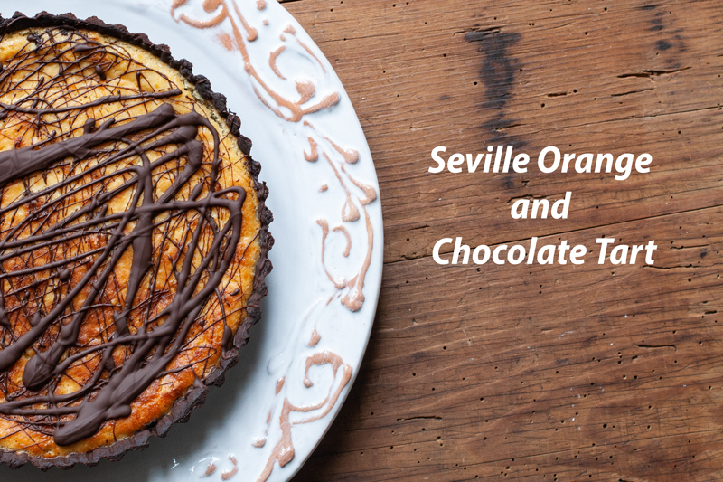 Seville Orange and Chocolate Tart